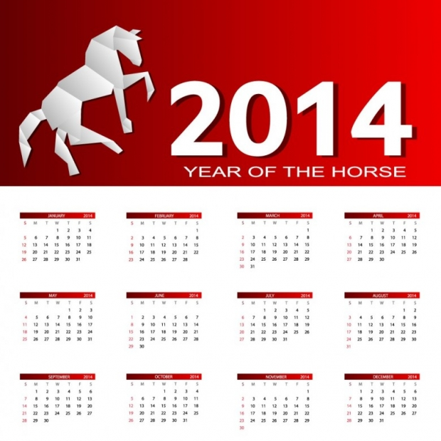 2014 Calendar Happy New Year 1