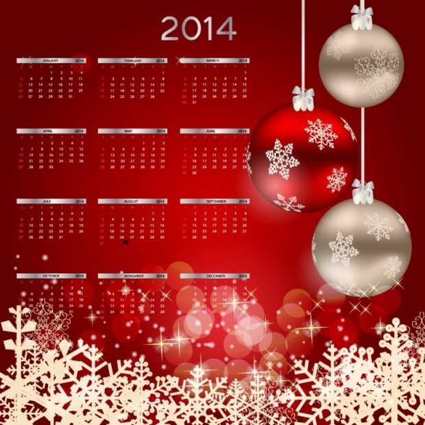 2014 Calendar Happy New Year 3
