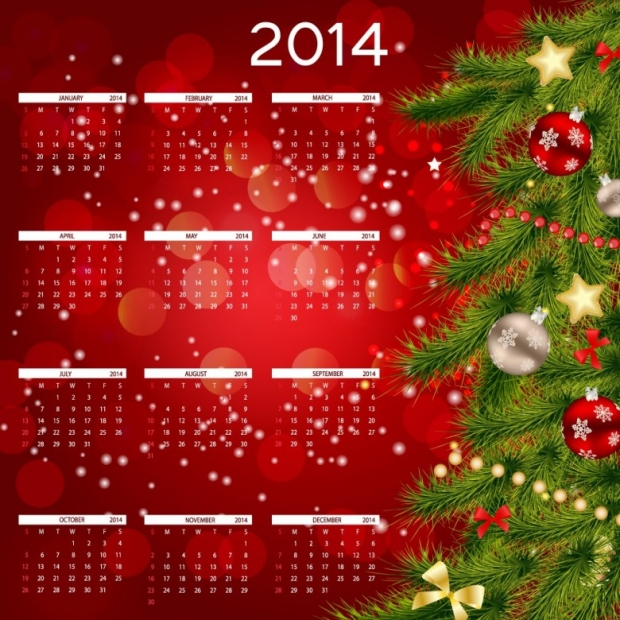 2014 Calendar Happy New Year 4