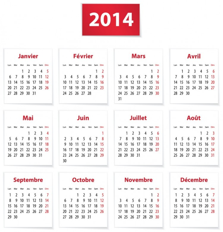2014 Calendar Happy New Year 6
