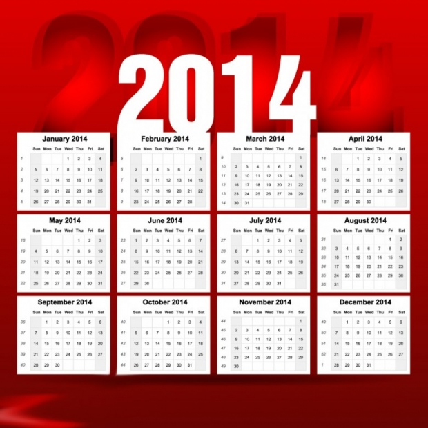 2014 Calendar Happy New Year 8