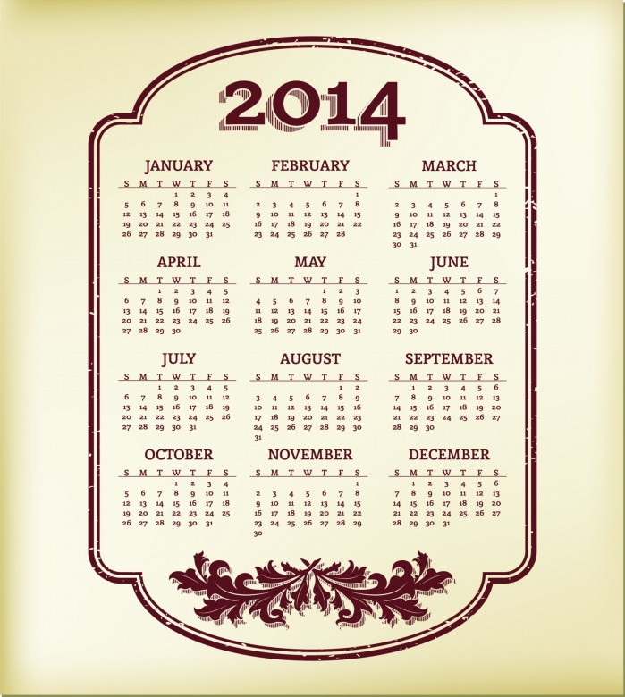 2014 Calendar Printable 13 699x780 2014 Calendar Ready to Printable