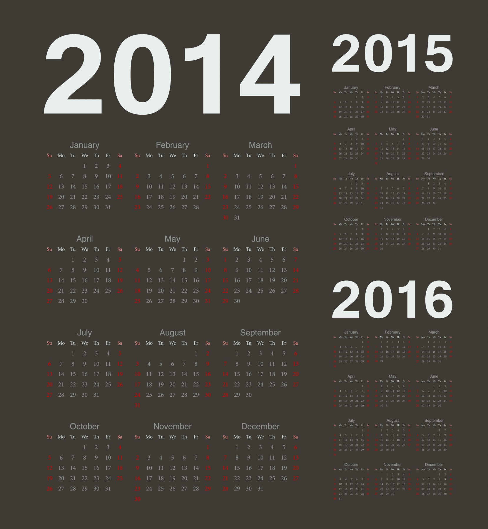 Европейский 2015, 2016, 2017 год вектор черный календари. к 2015 году,аннотация,ежегодный,справочная информация...