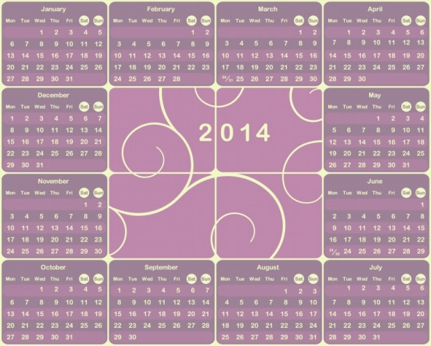 2014 Calendar Printable 16 780x625 2014 Calendar Ready to Printable