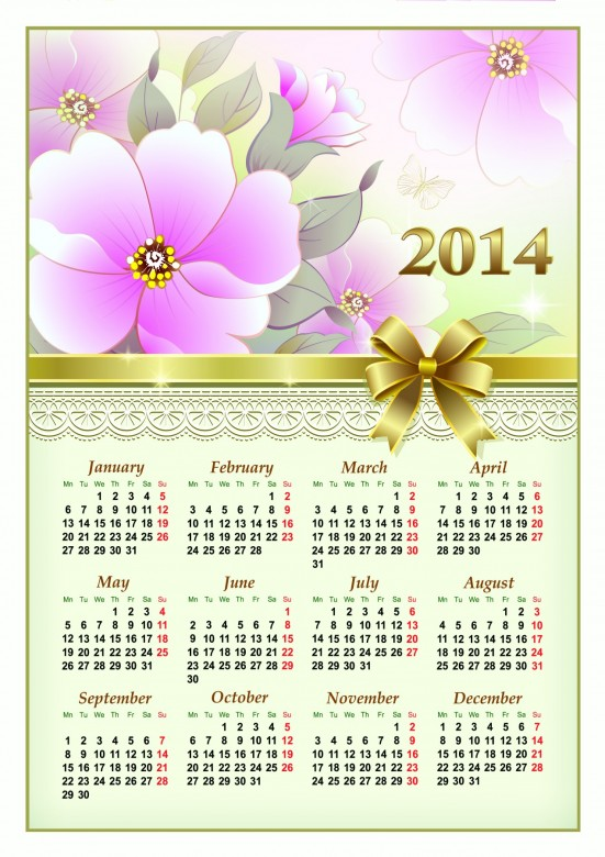 2014 Calendar Printable 17 551x780 2014 Calendar Ready to Printable