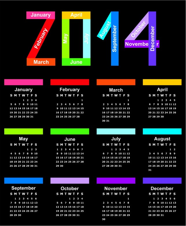 2014 Calendar Printable 4 643x780 2014 Calendar Ready to Printable