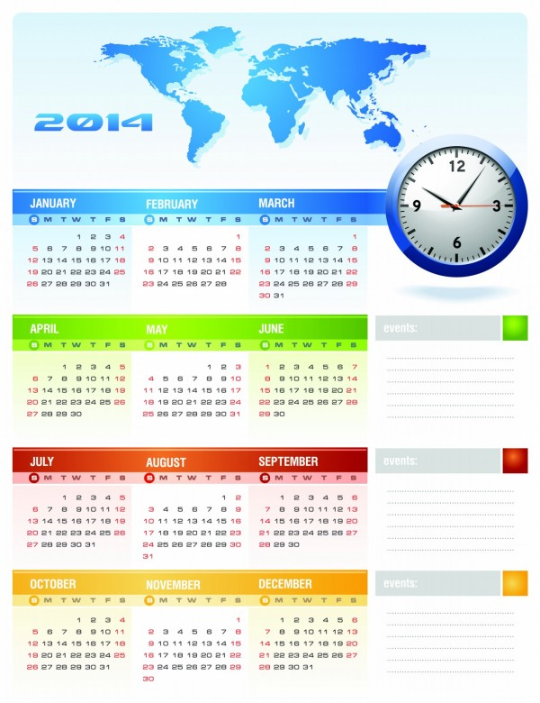 2014 Calendar Printable 6 600x780 2014 Calendar Ready to Printable