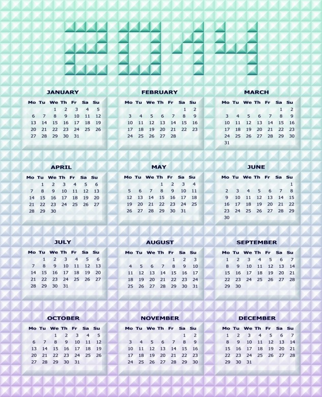 2014 Calendar Printable 9 632x780 2014 Calendar Ready to Printable