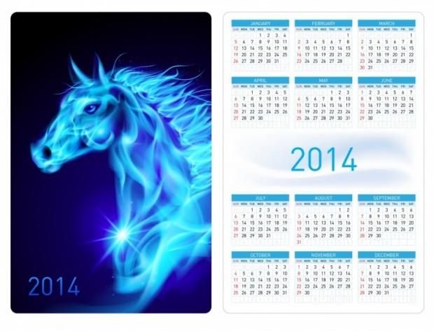 2014 Horses Calendar Free 1
