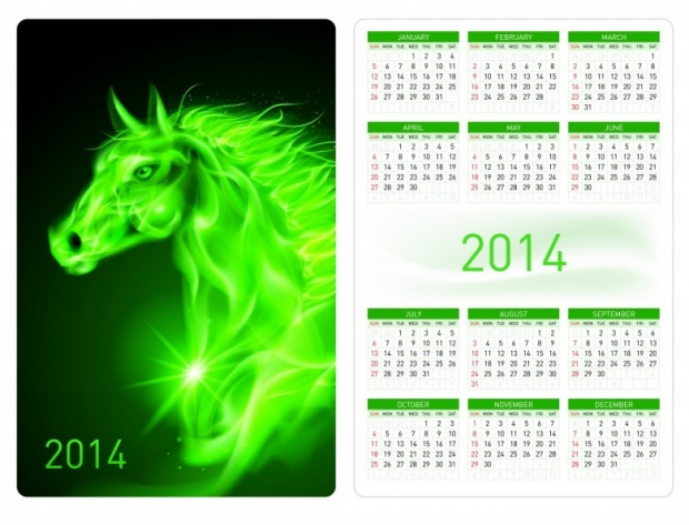 2014 Horses Calendar Free 2
