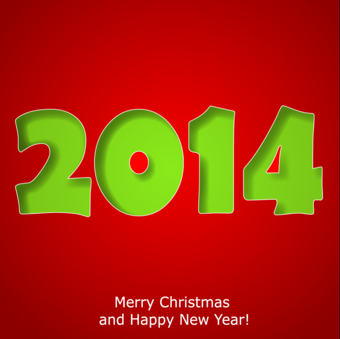 2014 New Year Card Design Image free