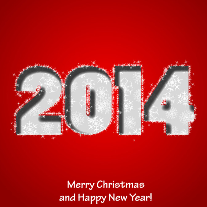 2014 New Year Card Design Image greetings