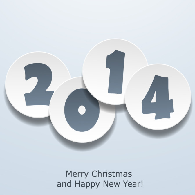 2014 New Year Card Design Image wishes