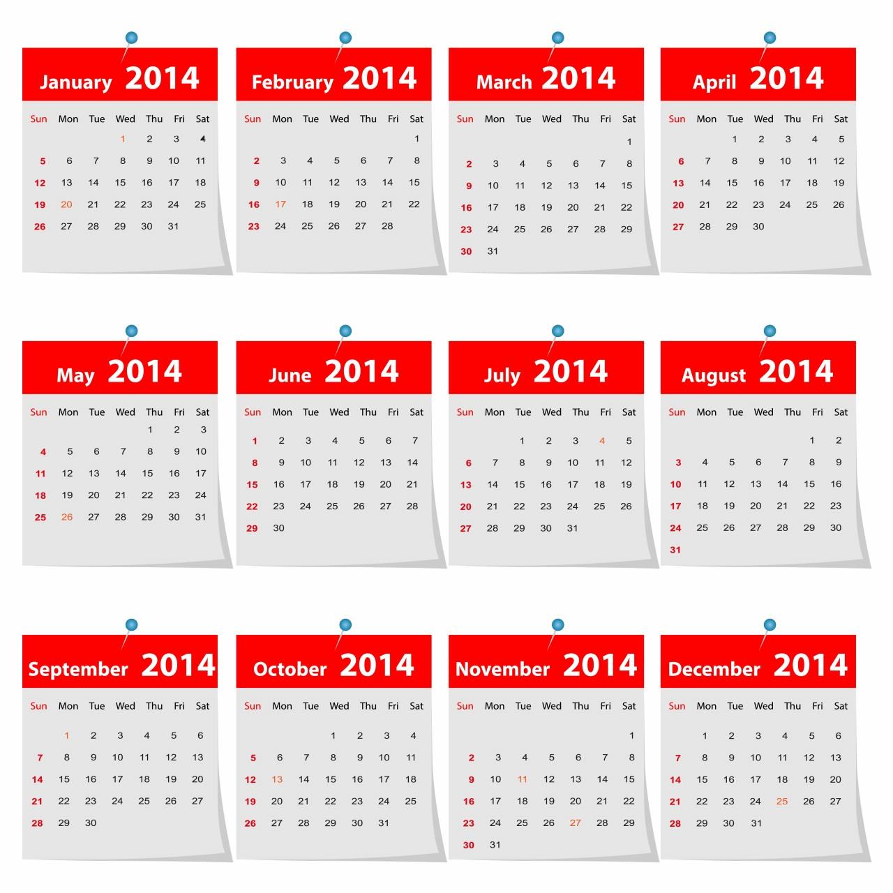 2014 Calendars Multiple Languages & Designs • Elsoar
