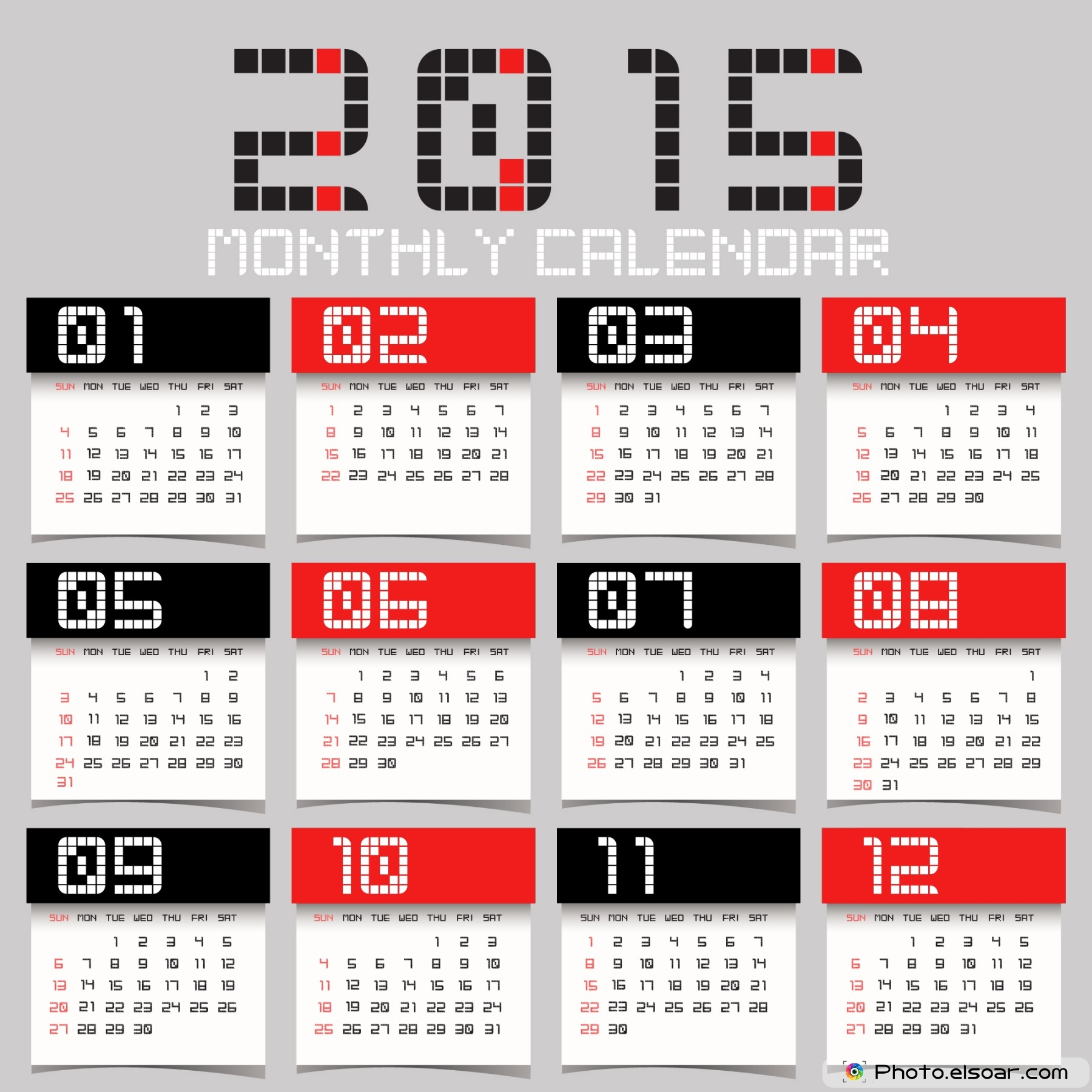 Calendar Design Free Download : Abstract simple calendars elsoar