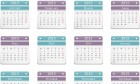 2015 Calendar - Horizontal Design