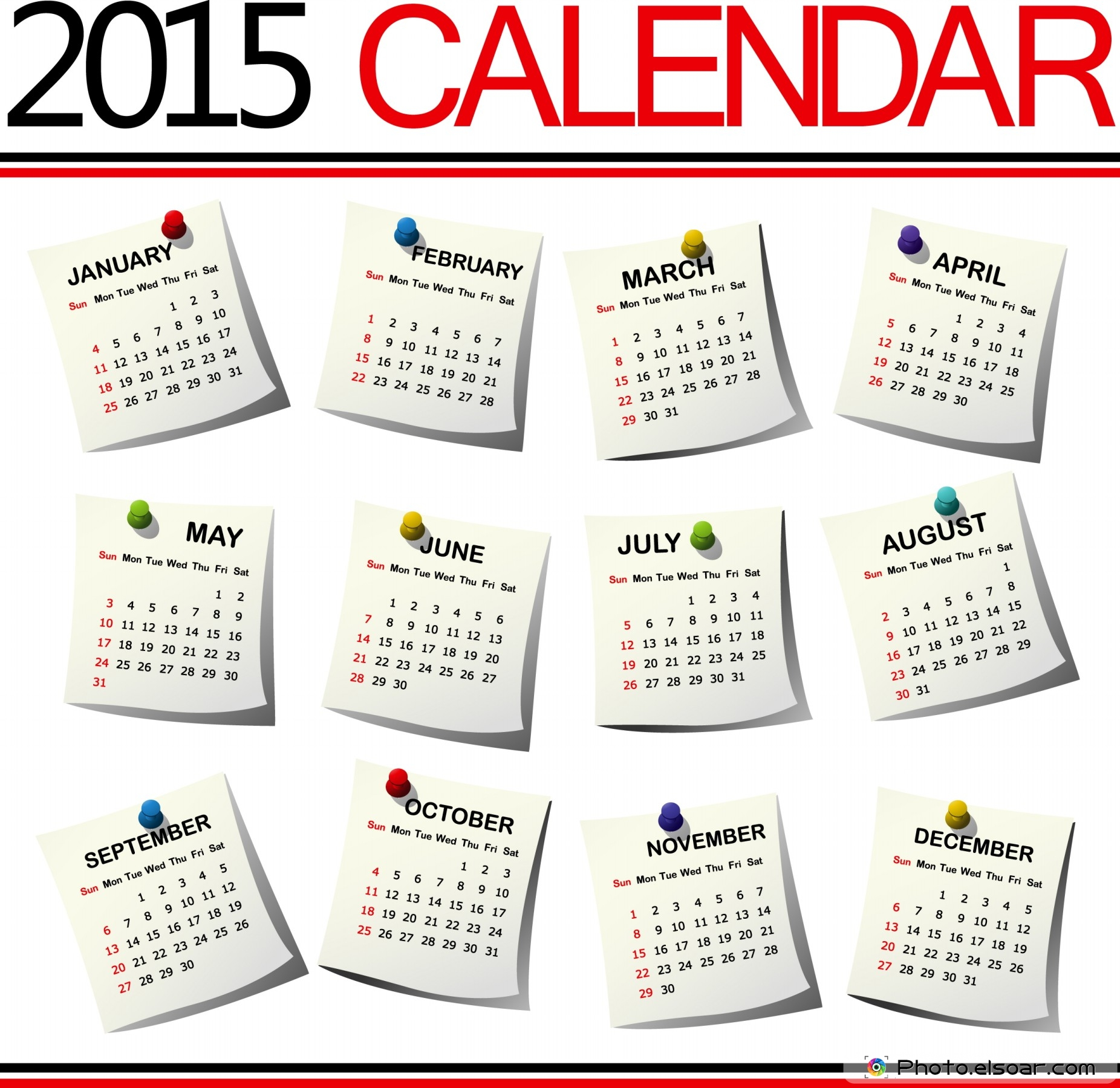 100% Off All 2015 Calendars Designs For Different Trends • Elsoar