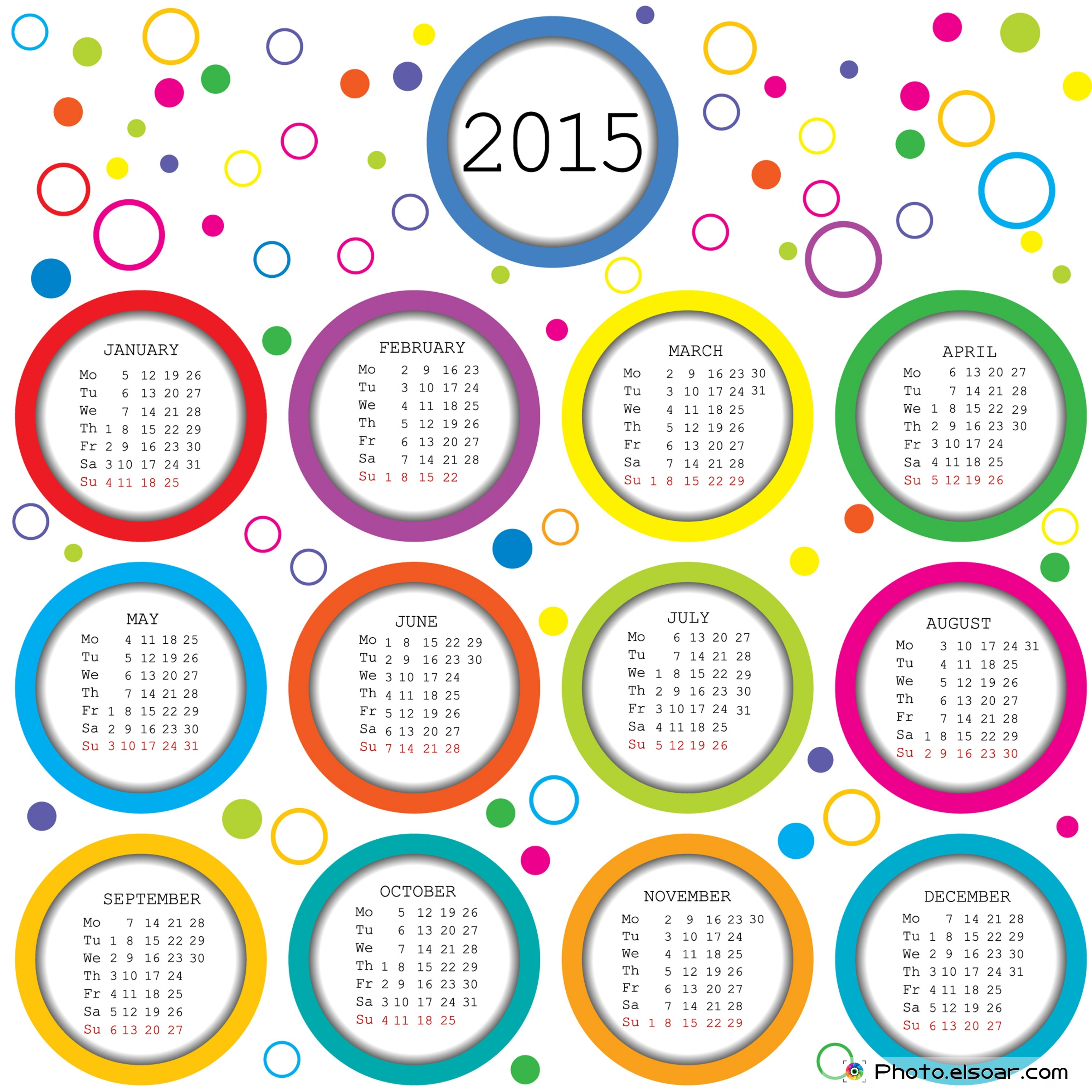 2015 Calendar Designs, With 25 Good Ideas • Elsoar