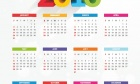 2016 Calendar With 3D Text