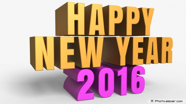 3D Greeting Card For New Year 2016