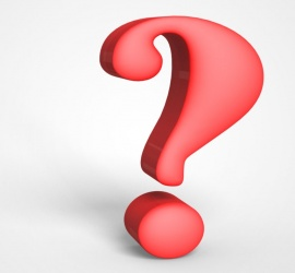 3D Red Question Mark Image On a Gray Background
