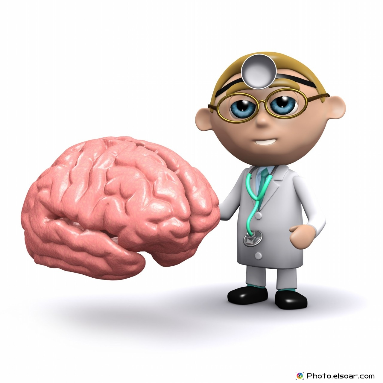 3d render of a doctor with a brain