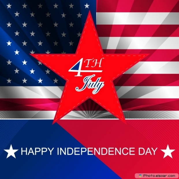 4th July Independence day design for poster, print
