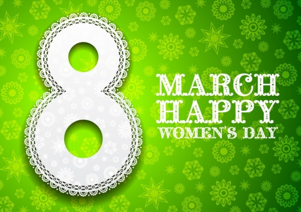 8 March. Happy Womens Day background