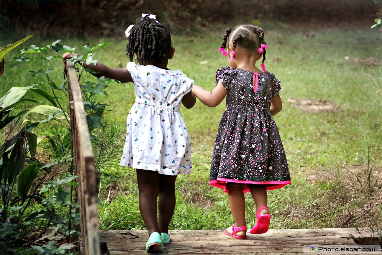 A Little Girls on the Friendship Day