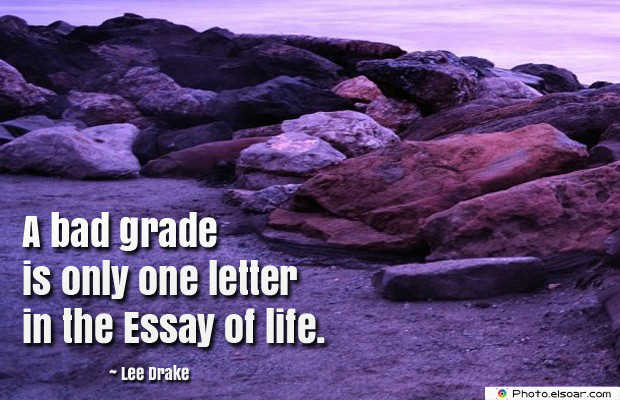 a bad grade is only one letter in the essay of life bull elsoar a bad grade is only one letter in the essay of life
