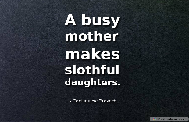 A busy mother makes