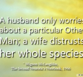 A husband only worries about