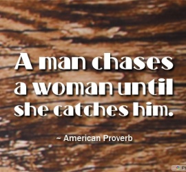 A man chases a woman