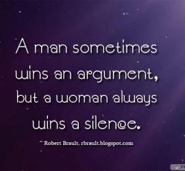 A man sometimes wins