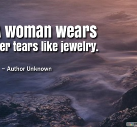 A woman wears her