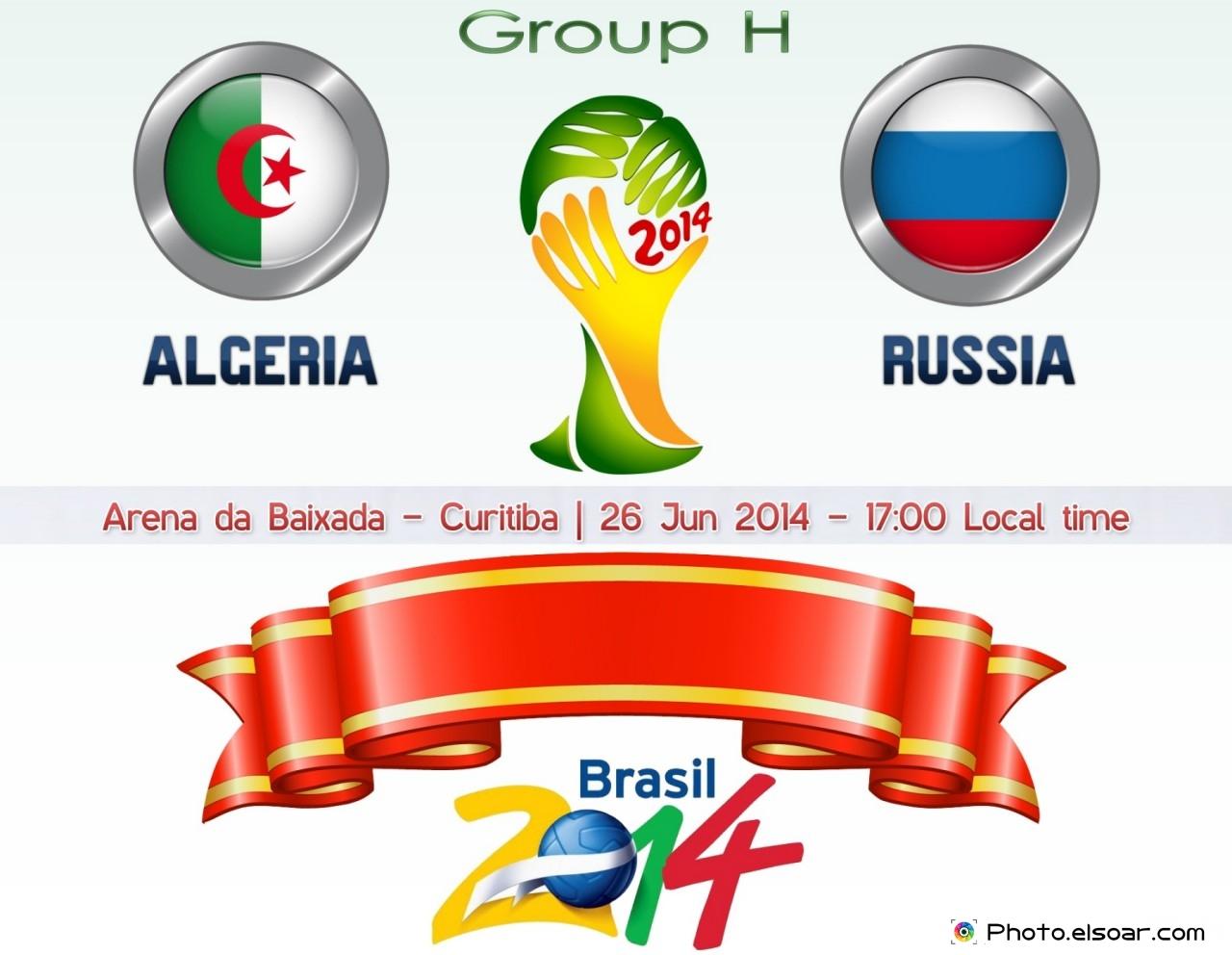 Algeria Vs Russia - World Cup 2014 - 26 Jun 2014 - 17:00 Local time - GROUP H - Arena da Baixada - Curitiba