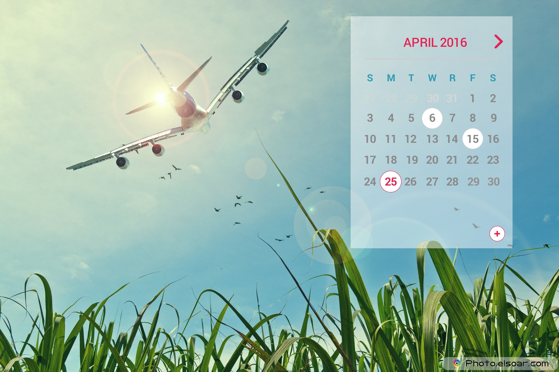 Desktop Calendar April 2016 unique calendars for april 2016 on landscape backgrounds • elsoar