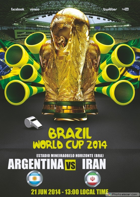 Argentina vs Iran - World Cup 2014 - 21 Jun 2014 - 13:00 Local time - Group F - Estadio Mineirao - Belo Horizonte