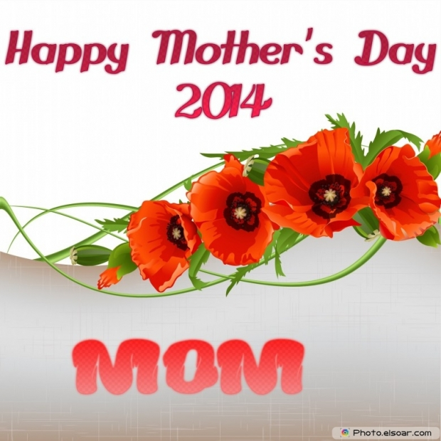 As Wallpaper Mother's Day Free 2014 Card, Red roses