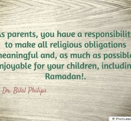 As parents, you have a responsibility
