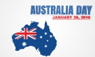 Australia Day January 26, 2016, with the Australian Map