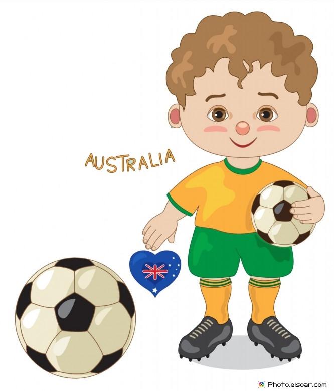 Australia National Jersey, Cartoon Soccer Player