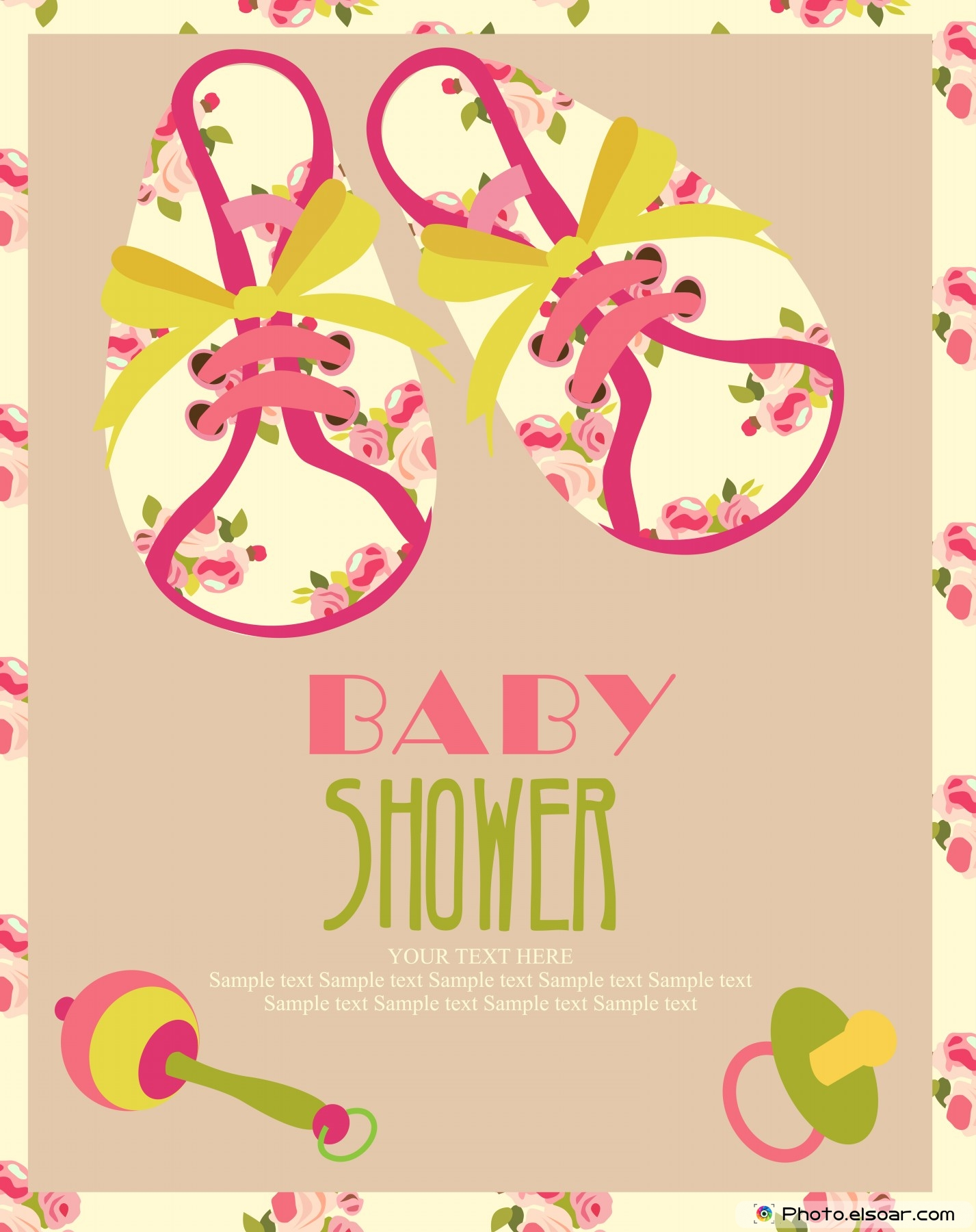 22 Unique Baby Shower Invitations Cards FREE • Elsoar