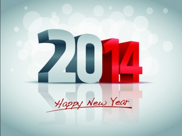 Beautiful Design Happy New Year 2014