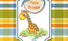 Beautiful Happy Birthday Card With Giraffe