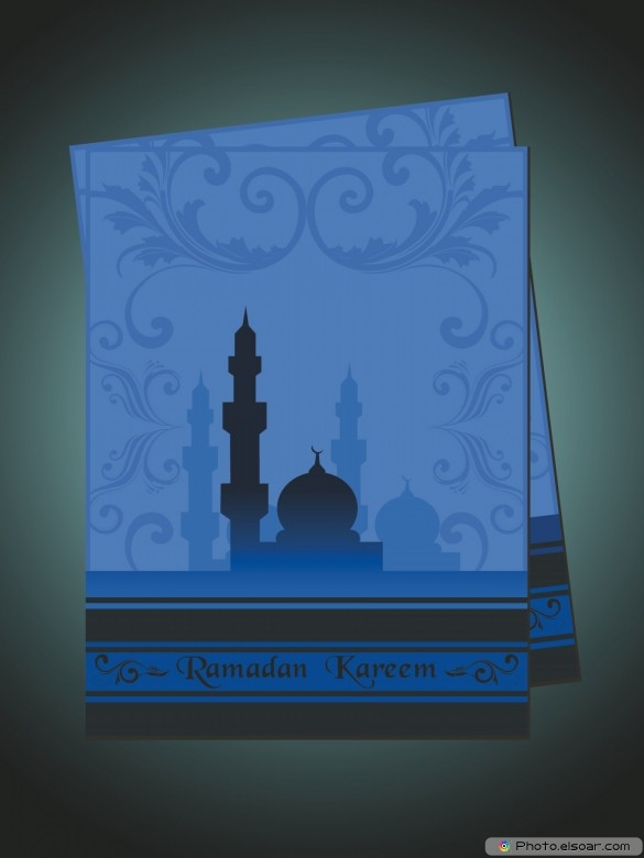Beautiful card for ramadan with presentation