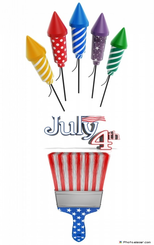 Beautiful design of july 4th picture