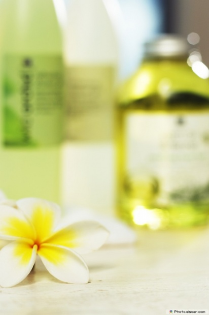 Beauty Products With A Plumeria Flower