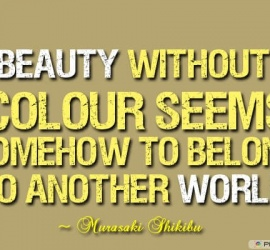 Beauty without colour seems