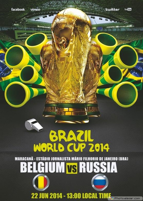 Belgium vs Russia - World Cup 2014 - 22 Jun 2014 - 13:00 Local time - Group H - Maracanã - Estádio Jornalista Mário Filho - Rio De Janeiro